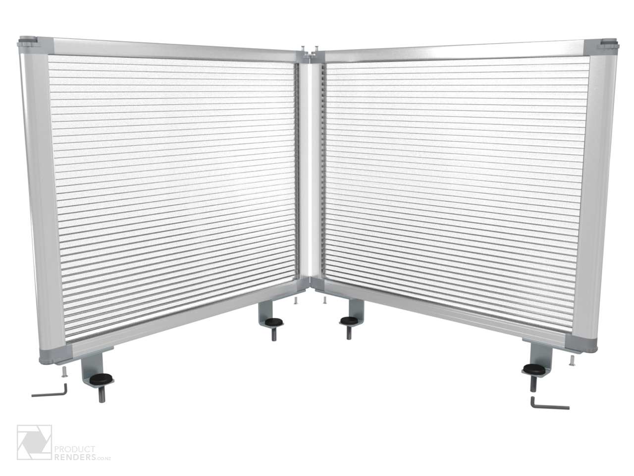 3D render of a Boyd Visual's desk partition