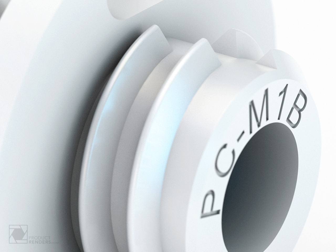 Close up 3D render of a Fastmount mounting clip