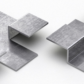 3D render of two panelling clips - preview image