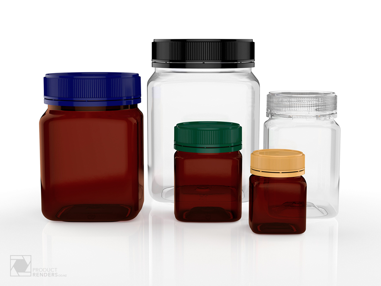 3D render of a Pharmapac jar for use in their corporate brochure and website