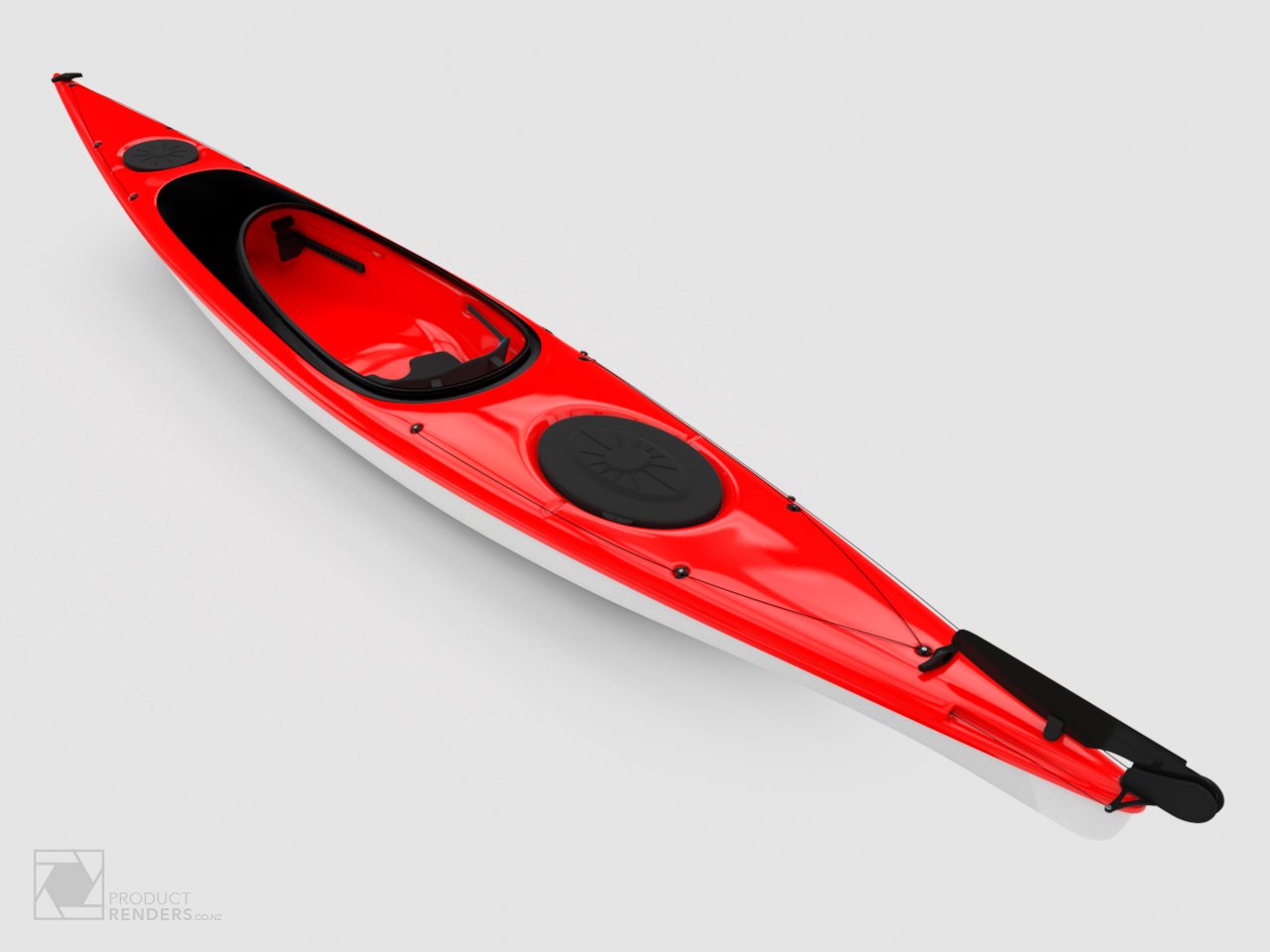 3D render of a red Star Kayak