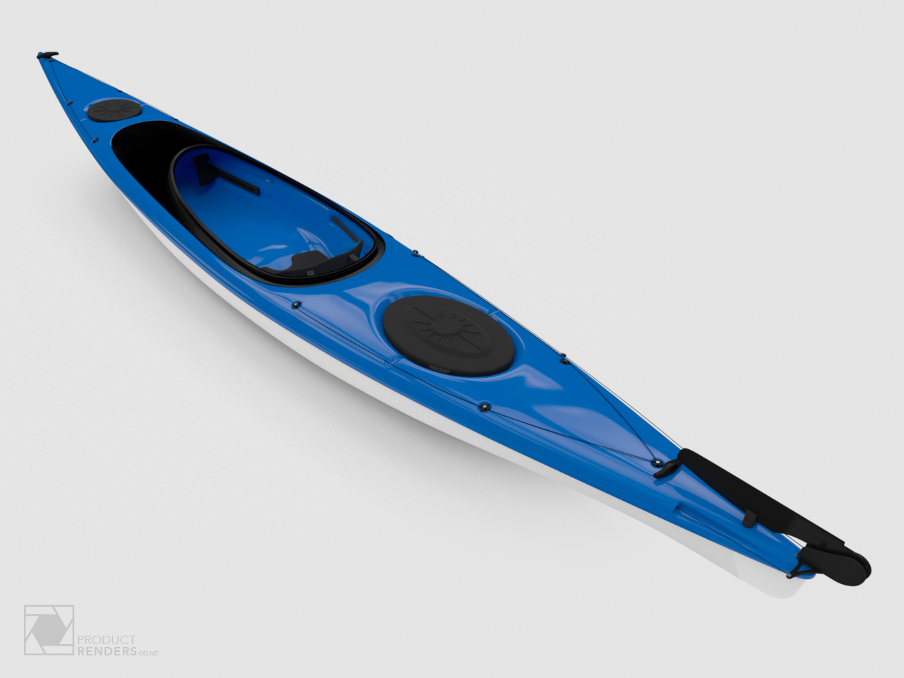 3D render of a blue Star Kayak