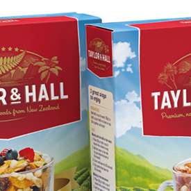3D render of Taylor&Hall muesli packaging - preview image