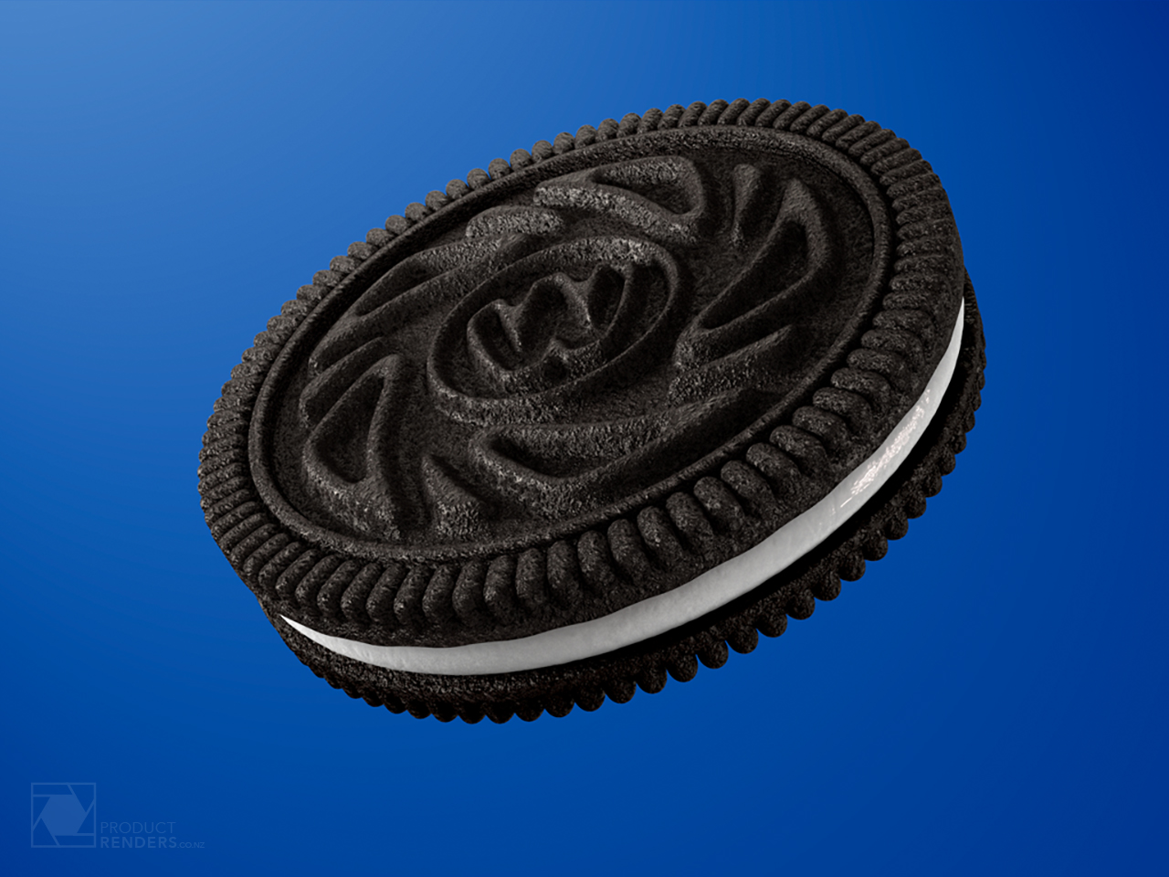 3D render of a single Wheelies biscuit for use on there new packaging range