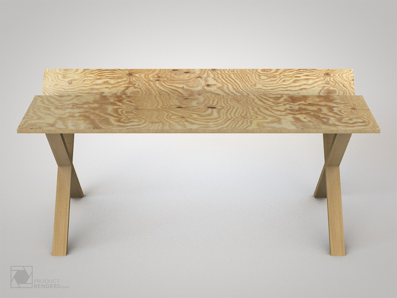 3D render of a concept desk