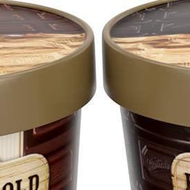 3D packaging render of the KillinchyGold's icecream range - preview image