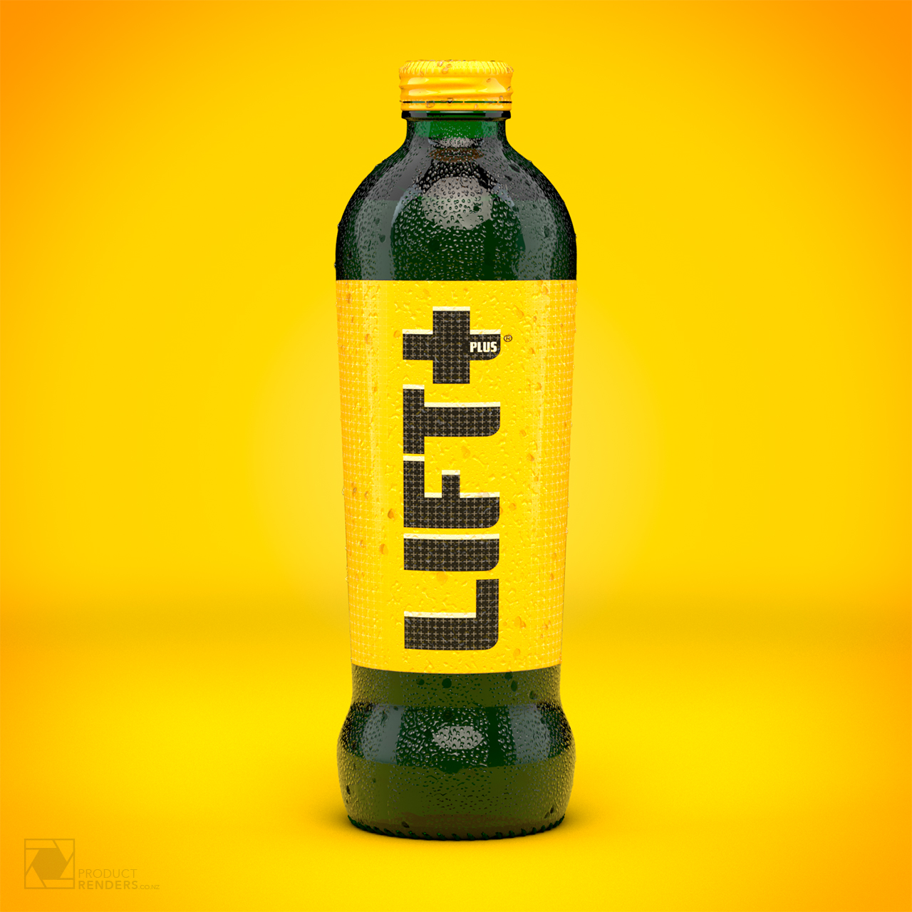 3D render of a Lift+ Plus bottle with water spritz