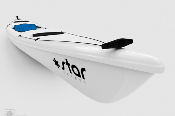 3D render of a white Star Kayak