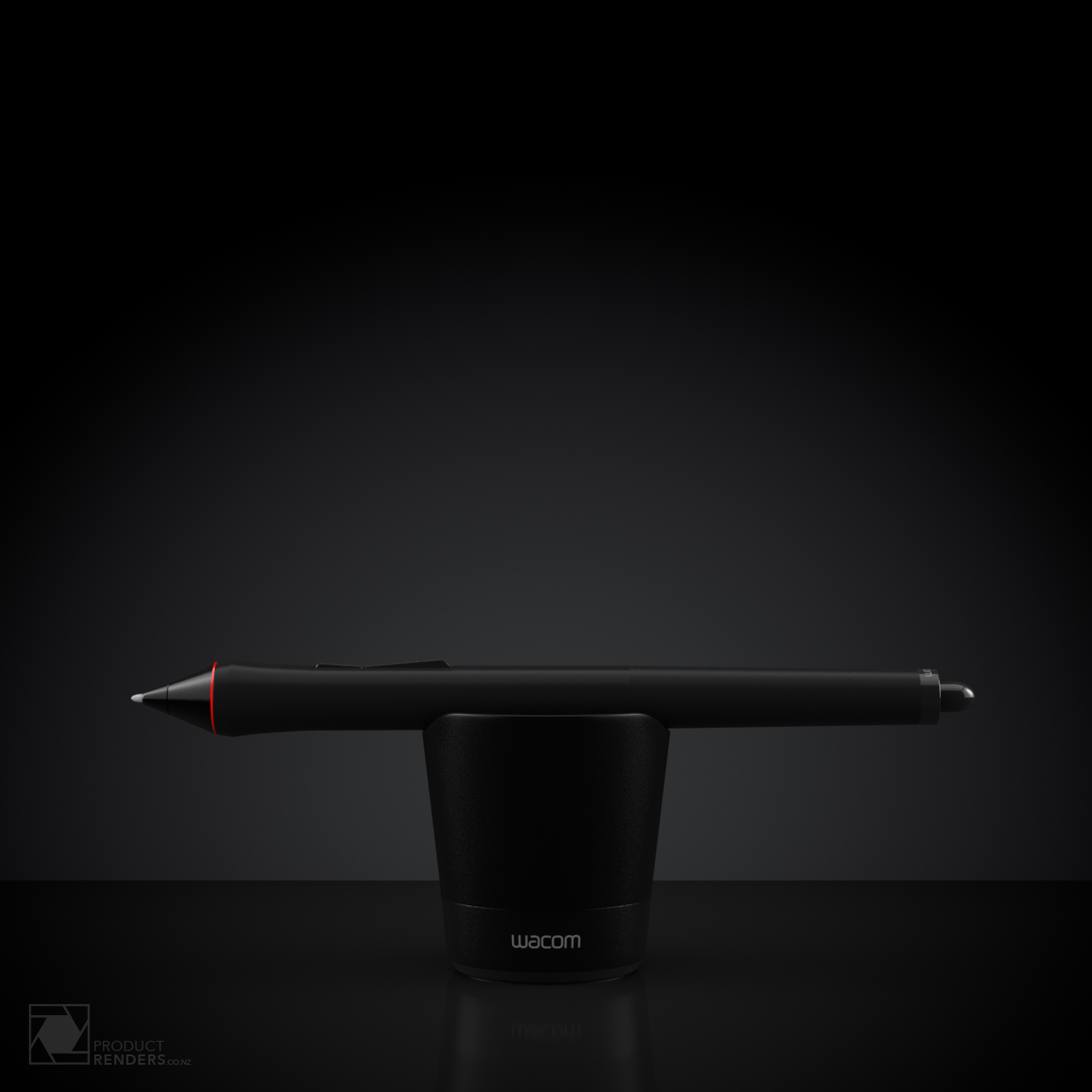 3D render of a Wacom 4 pen and closed stand