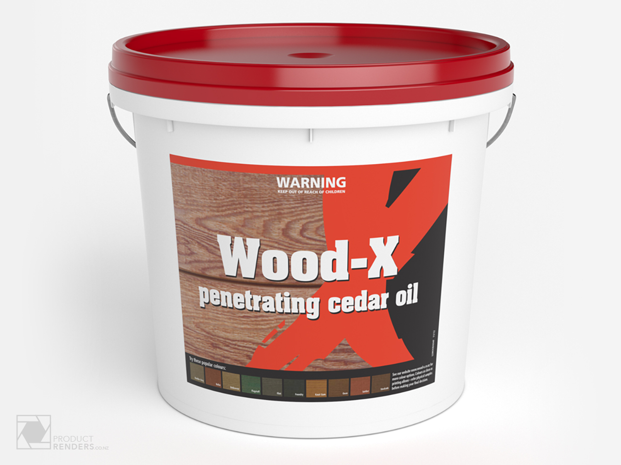 3D render of Wood-X packaging - Final Render