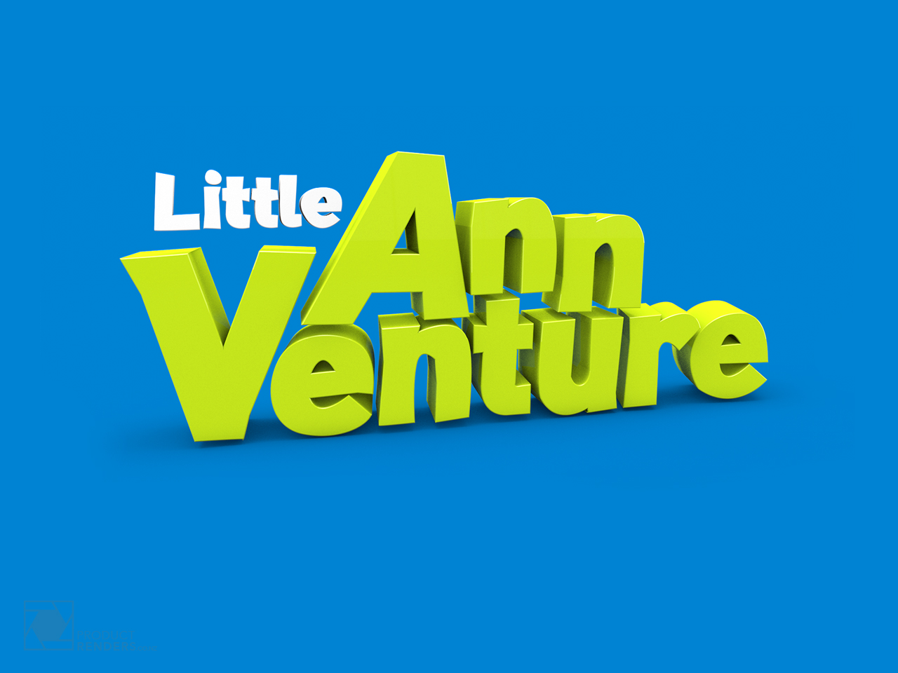 3D render of the logo for the kids story book, Little Ann Venture
