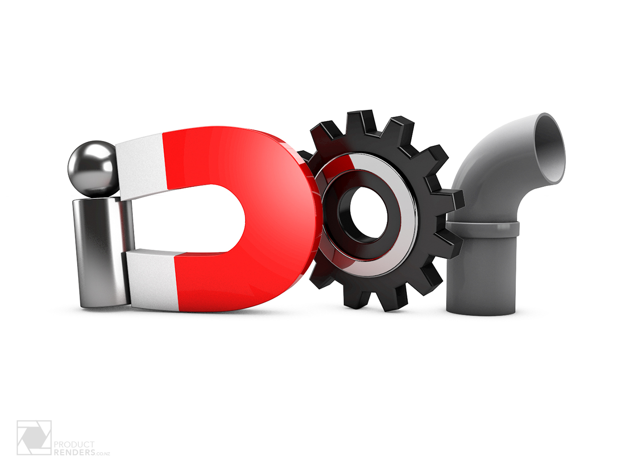 3D render of the logo for iDor Interactive