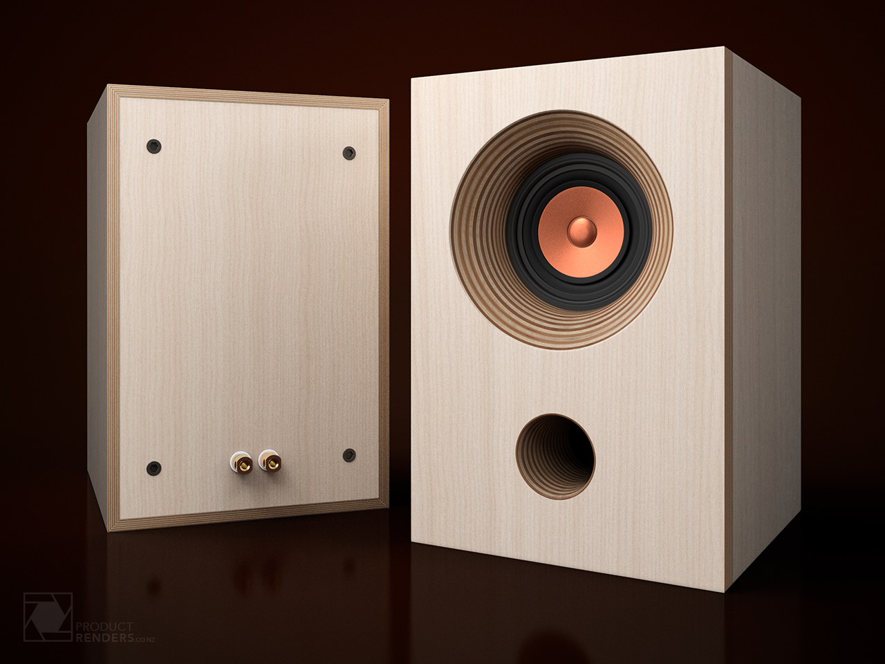 Custom monitor speakers with MarkAudio Alpair 7 full-range drivers
